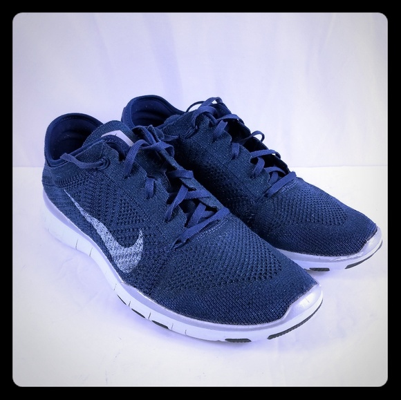 the latest 57ab1 cfc1f Nike Free TR Flyknit 5.0 Blue Sparkle Running Shoe.  M_5bdcbf99aa57199a71151c9c